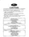 Ford Contour Owner`s Manual