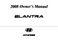 Hyundai Elantra Owner`s Manual