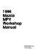Mazda MPV Workshop Manual